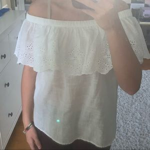 Abercrombie and Fitch White Blouse (never worn)